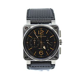 Bell & Ross Aviation Chronograph Stainless Steel Watch BR03-94