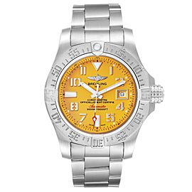 Breitling Avenger II 45 Seawolf Yellow Dial Mens Watch A17331