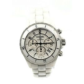 Chanel J12 Chronograph White Ceramic Watch H1007