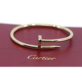 Cartier Juste Un Clou 18K Yellow Gold Nail Bracelet Size 18