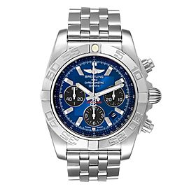 Breitling Chronomat 01 Blue Dial Steel Mens Watch