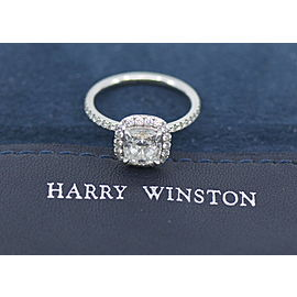 Harry Winston 1.82 F/VVS1 Cushion Diamond Platinum Engagement Ring