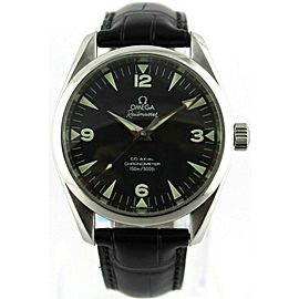 ORIGINAL OMEGA AQUA TERRA RAILMASTER 2803.52 AUTOMATIC CO-AXIAL LEATHER WATCH