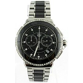 TAG HEUER FORMULA 1 CAH1212.BA0862 DIAMOND BLACK CERAMIC LADIES PRESTIGE WATCH