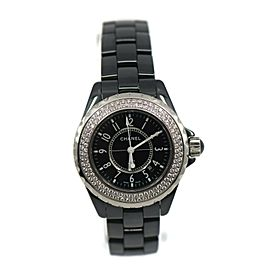 Chanel J12 Diamond Black Ceramic Watch H0949