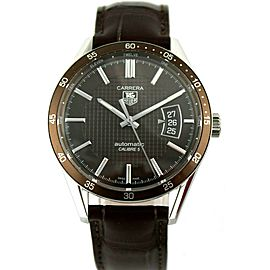 TAG HEUER CARRERA WV211N.FC6181 MENS AUTOMATIC BROWN LEATHER LUXURY SWISS WATCH