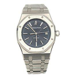Audemars Piguet Royal Oak Blue Dial Stainless Steel Watch 15300ST