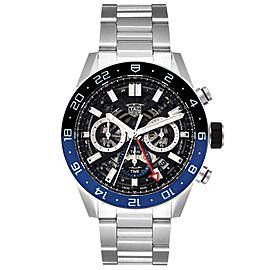 Tag Heuer Carrera Batman Bezel Chronograph Steel Watch CBG2A1Z