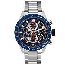 Tag Heuer Carrera Blue Skeleton Dial Chronograph Mens Watch CAR201T