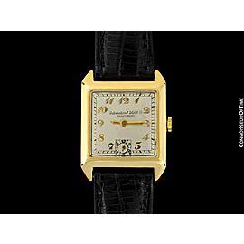 1926 IWC Vintage Mens Art Deco Breguet Numeral Watch - 14K Gold