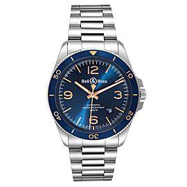 Bell & Ross Heritage Aeronavale Blue Dial Steel Watch BRV292