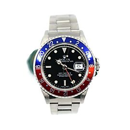 Rolex GMT-Master II Pepsi Stainless Steel Watch 16710 A Series