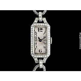 1922 Patek Philippe (Tiffany) Vintage Ladies Platinum & Diamond Watch - Original