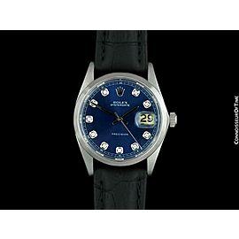 ROLEX OYSTERDATE Mens Stainless Steel & Diamond Watch - $6,995, Mint w/ Warranty