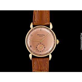 1948 PATEK PHILIPPE Vintage Mens Midsize Watch, Ref. 1461 - 18K Rose Gold