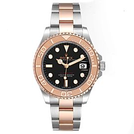 Rolex Yachtmaster 37 Midsize Steel Rose Gold Mens Watch 268621