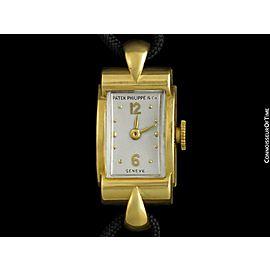 1944 Patek Philippe Vintage Ladies 18K Gold Watch - Warranty & Papers