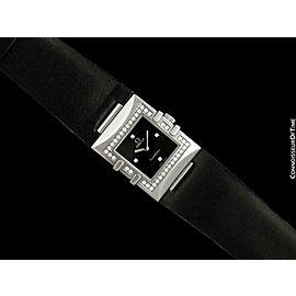 Omega Ladies Constellation Quadra - SS Steel & Original Factory Diamonds - Mint