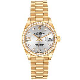 Rolex President Ladies 18k Yellow Gold Diamond Ladies Watch 279138