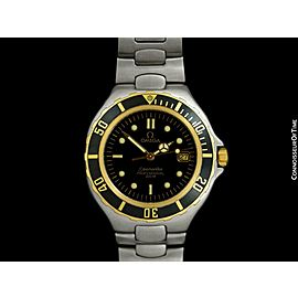 OMEGA SEAMASTER 200M Pre-Bond Dive SS & 18K Gold Watch - Mint with Warranty