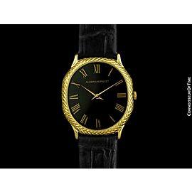 Audemars Piguet Mens Golden Ellipse Ultra Thin 18K Gold Watch - Mint w/ Warranty