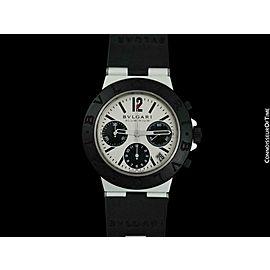 BVLGARI BULGARI DIAGONO Mens Panda Dial Chronograph, AL38TA - Aluminum & Rubber