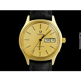 1978 OMEGA SEAMASTER Classic Vintage Mens 18K Gold Plated - Minty with Warranty