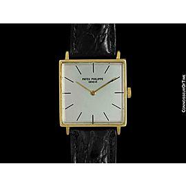 1964 PATEK PHILIPPE Vintage Mens 18K Gold Ultra Thin Watch - COA & Warranty