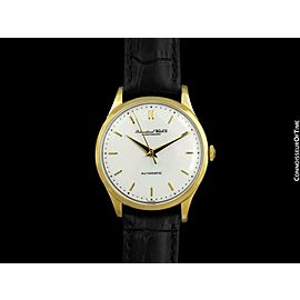 1960 IWC Vintage Mens Full Size Cal. 853 18K Gold Watch - Mint with Warranty