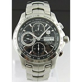 TAG HEUER LINK CJF211A.BA0594 CHRONO AUTO BLACK STEEL EXHIBITION DAY DATE WATCH