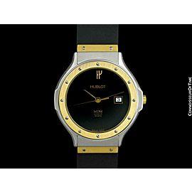 Hublot MDM Two-Tone Midsize Mens SS Steel & 18K Gold Watch - Mint with Warranty