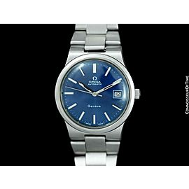 1973 OMEGA GENEVE Vintage Mens Stainless Steel Bracelet Watch - Mint w/ Warranty