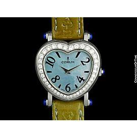 CORUM HEARTBEAT Ladies SS Steel & Diamond Watch - $6,650, Mint with Warranty