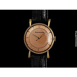 1947 JAEGER-LECOULTRE Vintage Mens Classic 18K Rose Gold Watch - Mint - Warranty