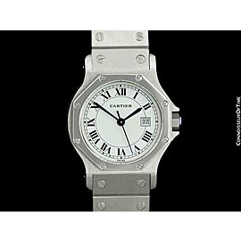 CARTIER SANTOS OCTAGON Mens Unisex SS Steel Watch - Mint with Warranty