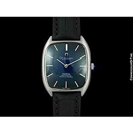 1978 OMEGA Constellation Vintage Mens Blue Vignette Dial SS Steel Watch - Mint