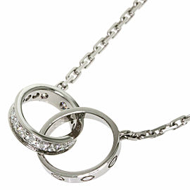 CARTIER diamond 18k White Gold Baby love Necklace