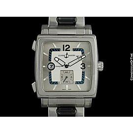 ULYSSE NARDIN QUADRATO Dual Time Mens SS Steel 243-92 Watch - Mint with Warranty