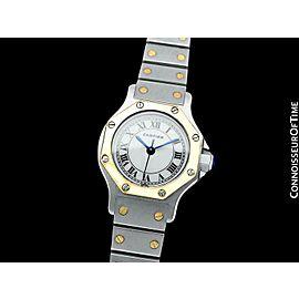 Cartier Santos Octagon Ladies Watch SS Steel & 18K Gold