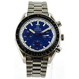 OMEGA SPEEDMASTER MICHAEL SCHUMACHER 3510.81 AUTOMATIC CHRONOGRAPH BLUE WATCH
