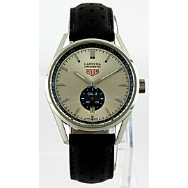 TAG HEUER CARRERA WV5111.FC6350 AUTOMATIC BLACK LEATHER MENS LUXURY SWISS WATCH