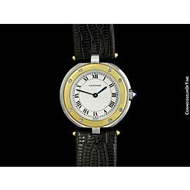 Cartier Santos Vendome Ladies Stainless Steel & 18K Gold Watch