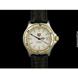 TAG HEUER PROFESSIONAL SEL Mens Midsize SS Steel & 18K Gold -