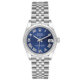 Rolex Datejust Midsize 31 Steel White Gold Diamond Watch 278274