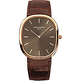 Patek Philippe 18K Rose Gold with Brown Dial Automatic 31.1mm Mens Watch