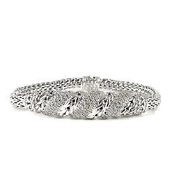 John Hardy Sterling Silver and 18K Yellow Gold with 0.42ctw. Diamond Bracelet