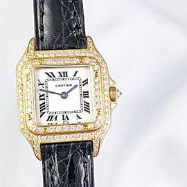CARTIER PANTHERE 18K Yellow Gold 1.02TCW DIAMOND Watch