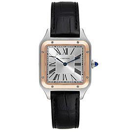 Cartier Santos Dumont Large Steel Rose Gold Mens Watch W2SA0011