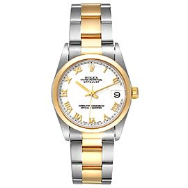Rolex Datejust 31 Midsize Steel Yellow Gold White Dial Ladies Watch 78243