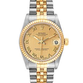 Rolex Datejust Midsize 31 Champagne Dial Steel Yellow Gold Watch